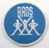 Bros - 'Logo Blue' Embroidered Patch